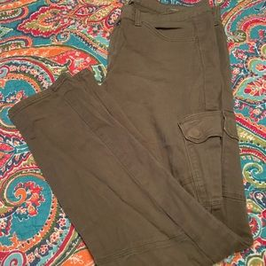 Lucky brand cargo olive green 10 ankle jeans pants
